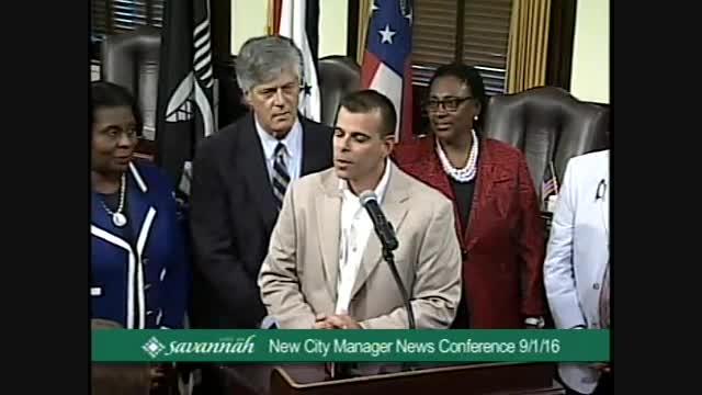 New City Manager News Conference