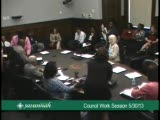 Council Work Session 5/30/13