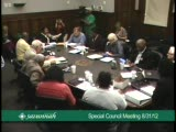 Special Council Meeting 8/31/12, Part 2