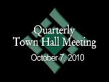 Town Hall Meeting 10/7/10