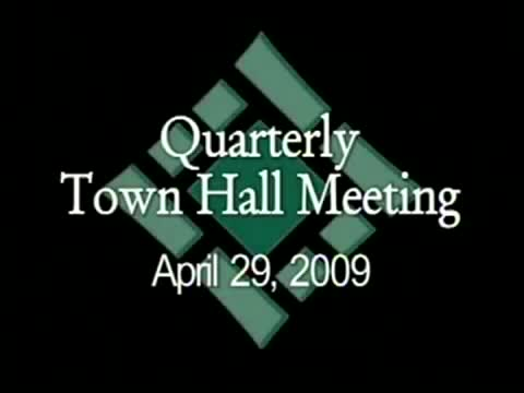 Town Hall Meeting 4/29/09