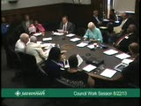City Council Work Session 8/22/13