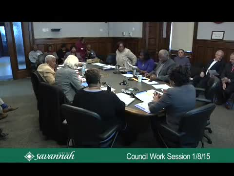 Council Work Session 1/8/15