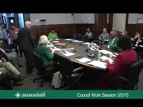 Council Work Session 3/5/15