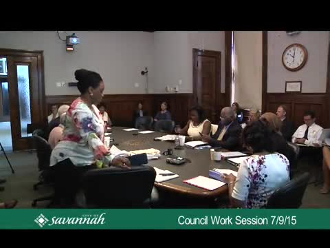 City Council Work Session 7/9/15