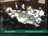 City Council Work Session 7/10/14