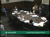 Council Work Session 8/15/13