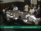 Council Work Session 8/30/13