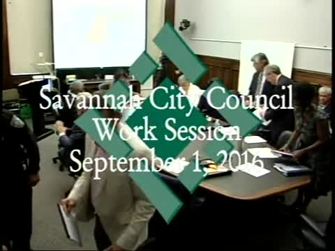 City Council Work Session 9/1/16