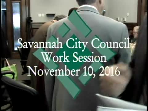 City Council Work Session 11/10/16