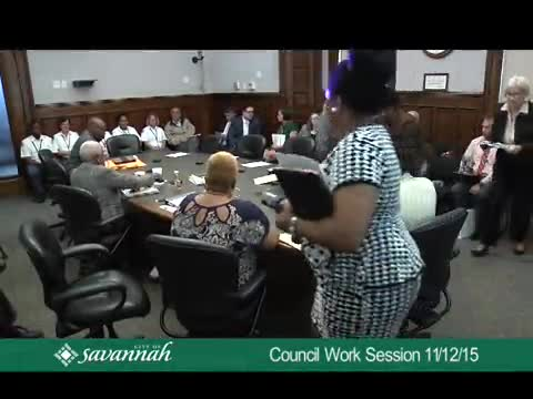 City Council Work Session 11/12/15