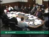 Council Work Session 9/18/14
