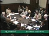 Council Work Session 4/4/13